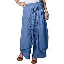 ... pantalon sarouel jean femme. CASPAR KHS001 Pantalon Palazzo pour femme c07b28cbe47b