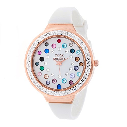 ladies-think-positiver-model-se-w116r-star-dust-tunnel-medium-steel-strap-silicone-color-mix-white