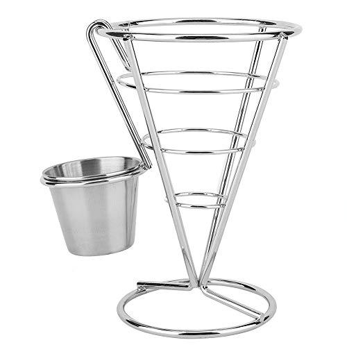 Ofertas Plating Papas a la francesa Stand Buffet Cono Snacks Exhibición Stand Fries Canastas (Copa doble) (tamaño : Single cup)