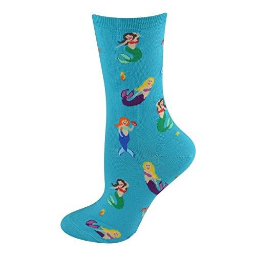 Socksmith Women's Socks Mermaids Crew 1Pair