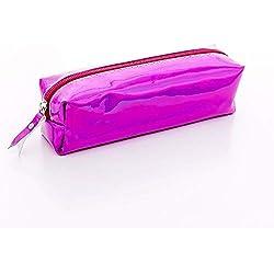 LFDQBH Iridiscente Láser Escuela Estuche de lápices para niñas Bolso de la Pluma Lindo Caja de papelería Bolsa BTS útiles Escolares de Oficina púrpura
