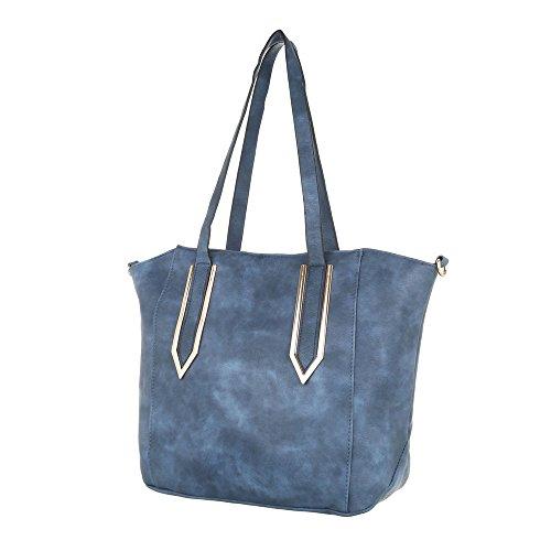 Taschen Handtasche Used Optik Blau