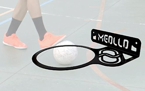 MEOLLO Futsal Ball Wandhalterung (100% Stahl) (schwarz) (5 Tennis Futbol)