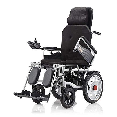 QYLT Zusammenklappbarer Elektrorollstuhl, Elektrorollstuhl mit Doppelmotor, Ultraleichter Motorrollerstuhl, Sicher und Einfach Zu Fahren für Behinderte und ältere Menschen