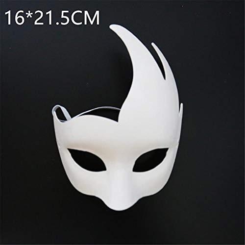 Papier Kostüm Loch 3 - presentimer Halloween Maske Cosplay Kostüm Halloween Party DIY Umweltfreundlich Papier Zellstoff Maske Komfortabel Weich und Nicht reizend Geruch Universal Größe C