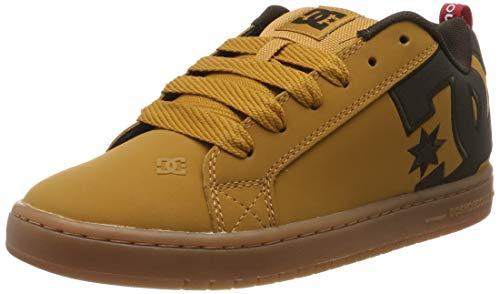 DC Shoes Court Graffik Se, Scarpe da Skateboard Uomo, Beige (Wheat/Turkish Coffee Ttc), 43 EU