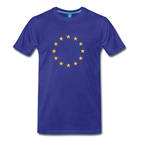 Drapeau De L'Union Européenne T-shirt Premium Homme de Spreadshirt®, L, bleu roi