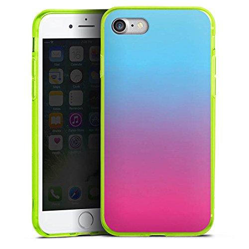 Apple iPhone 8 Silikon Hülle Case Schutzhülle Farbverlauf Türkis Pink Silikon Colour Case neon-grün