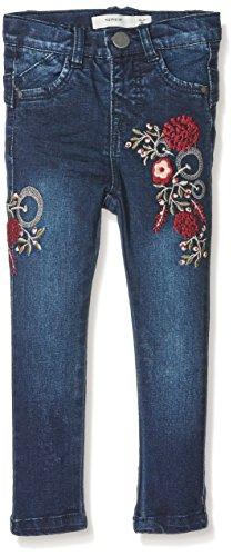 NAME IT Baby-Mädchen Jeans NITBATILDE Skinny DNM Pant W Art F Mini, Blau (Dark Blue Denim), 92