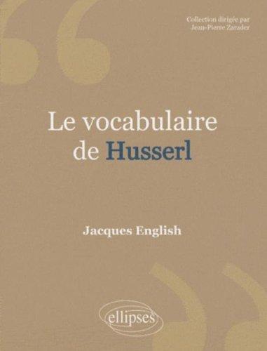 Le vocabulaire de Husserl