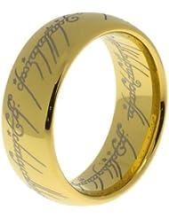 Su/Anillo de Katrina revenaugh señores de la carburo de tungsteno 14 K chapado en oro para mujer para hombre de la Alianza de boda anillo de compromiso con piedra [One anillo] [8 mm tamaño o]