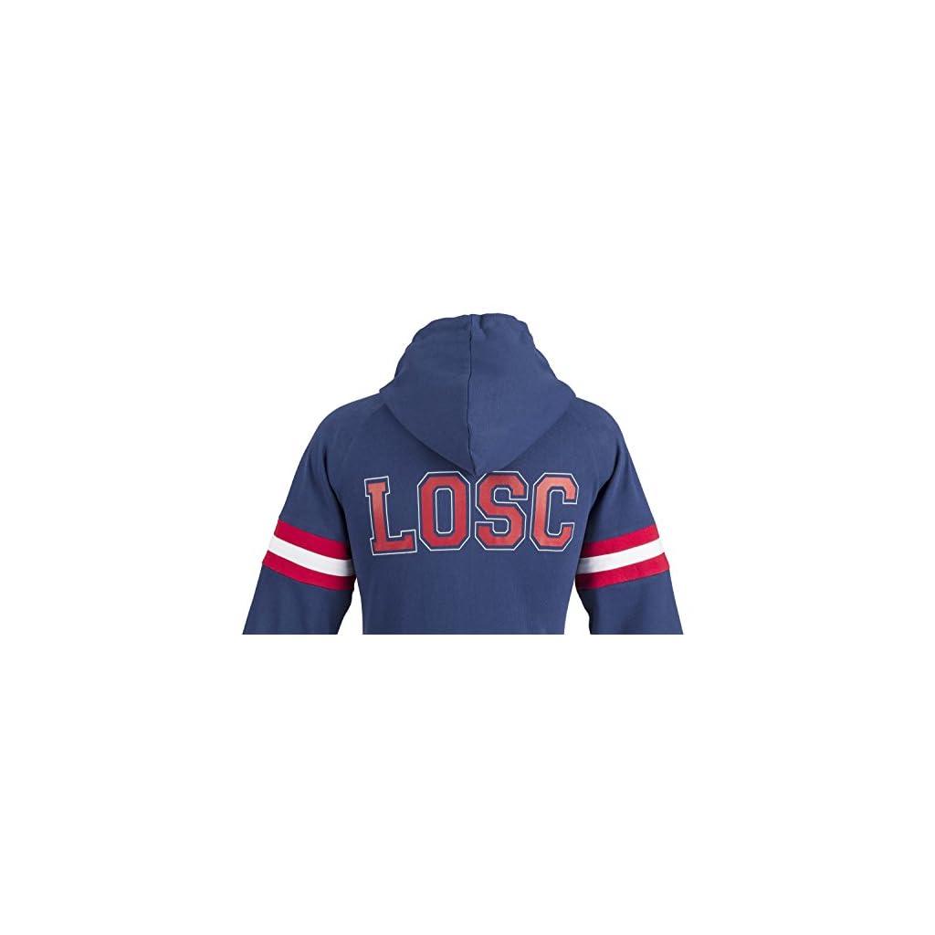 Collection Officielle Taille Enfant gar/çon Lille OSC Sweat Zip Capuche LOSC