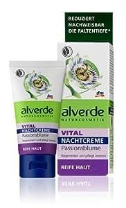Alverde - Crème de nuit pour peaux matures VITAL - Fleur de la Passion (Passiflore) bio - 50 ml