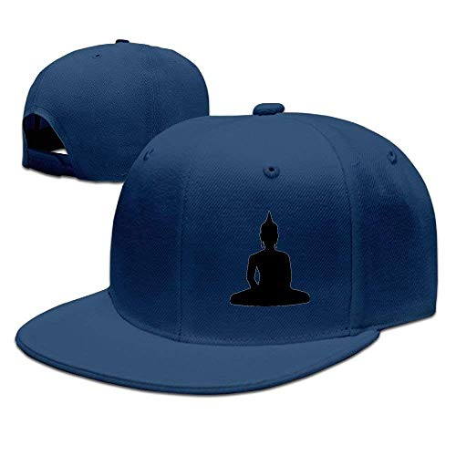 bowlife Adults Buddha Figure Funny Snapback Fitted Flat Bill Hats
