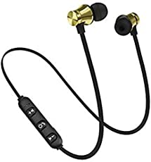 Redmi 5A MAGNETIC Bluetooth Waterproof Attractive Black Headphone with noice isolation , Neckband earphone , Thunder Beats Stereo Sound and Hands-free Mic , Mic and controlling buttons , IP-X5 Wireless 4.1 Technology , Magnetic Earbuds , Universal Compatibility WITH all Samsung ,oppo , vivo , Redmi , Xiaomi , Moto , Apple iPhone mobile Secure Fit for Sports , Gym , Running & Outdoor with Built-in Microphone Supports For All Android & iOS Mobiles - BLACK