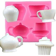 iTemer 1 unidades creativo molde lindo pastel de chocolate galleta helado hacer molde molde de silicona