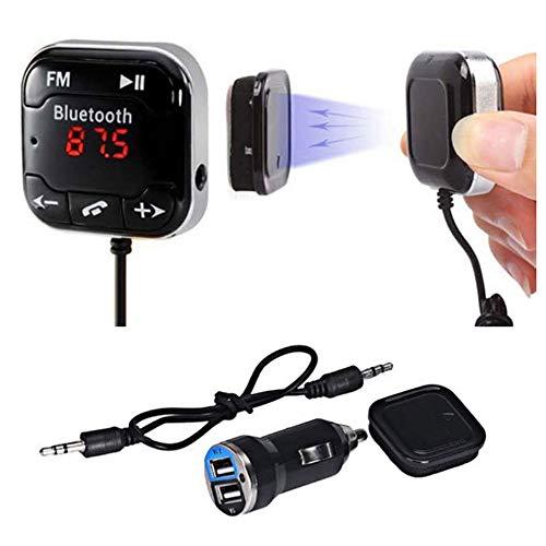 EINCAR Car Kit MP3-Musik-Player-drahtloser Bluetooth FM Transmitter Modulator eingebautes Mikrofon Unterstützt USB-Festplatte 3,5 mm Audio-Line-Modul Auto-MP3-Player Co-line Modul