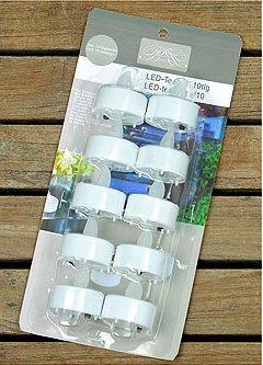 LED 10tlg portavelas con H4cm 10x cr2032,3V