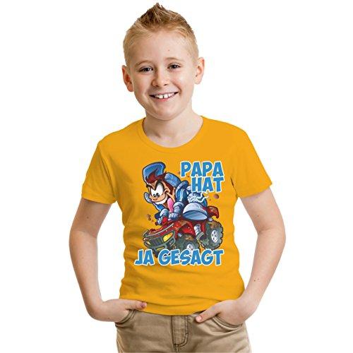 Kinder T-Shirt Papa hat JA gesagt Gelb