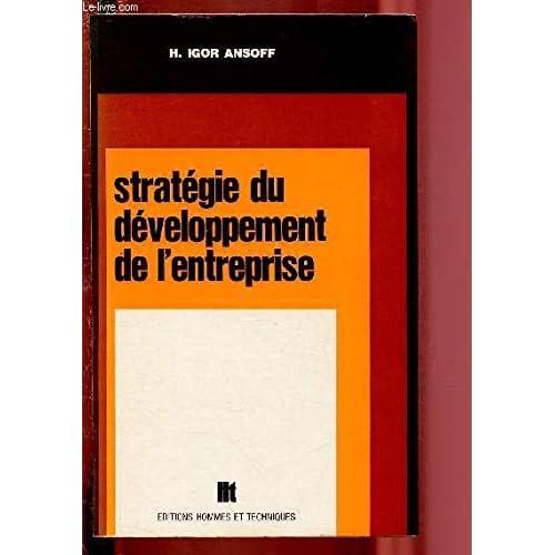 Stratégie du développement de l'entreprise