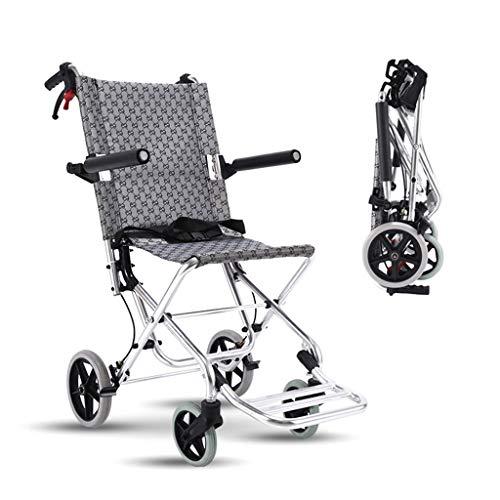 WUHX Deambulatore Pieghevole Rollator, con braccioli e Pedale Comfort, Sedia a rotelle Portatile, può sopportare 75 kg, per Anziani, disab