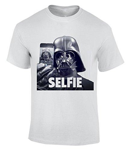 Darth Wader Selfie T-Shirt Herren Weiß