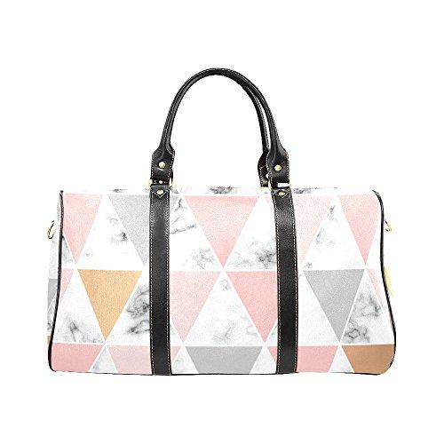 Triangle Marmor-Reisetasche, wasserdicht, Wochenendtasche, Gepäck mit Gurt