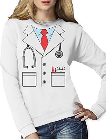 Sport Thèmes Costume Idées - Déguisement de médecin docteur Costume Halloween Sweatshirt