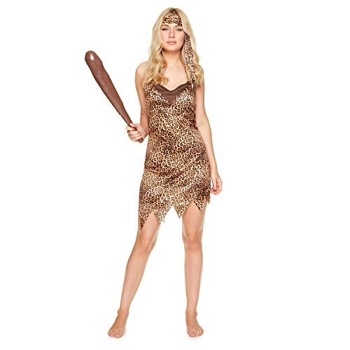 Cavewoman Kostüm Womens - Karnival Costumes 81349 Kostüm, Women, multi