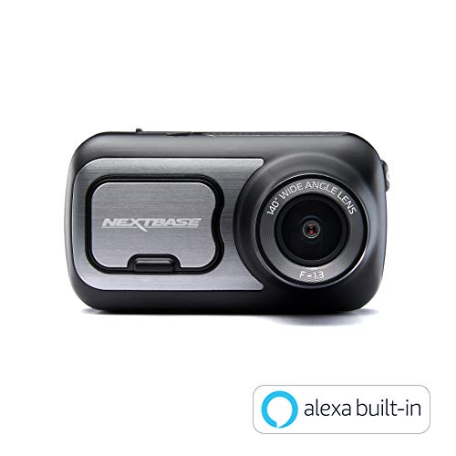 Nextbase 422GW - Series 2 Car Dash Camera - Full 1440p/30fps HD Recording DVR Cam - Front and Rear Recording Modules - 140° Wide Viewing Angle - Wi-Fi and Bluetooth - Built-in Alexa - GPS - Black Best Price and Cheapest