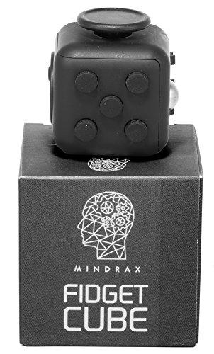 #Mindrax Fidget Cube   Hochwertiger Anti-Stress-Würfel   Das perfekte Spielzeug für unruhige Hände & nervöse Finger (Schwarz)#