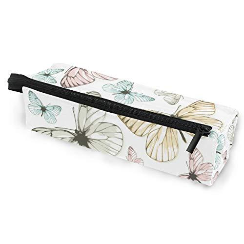Sonnenbrille Fall Stift Federmäppchen Kunst Schmetterling Muster Briefpapier Beutel Aufbewahrungsbox Kosmetiktaschen Brillen Tasche mit Aufhängeöse