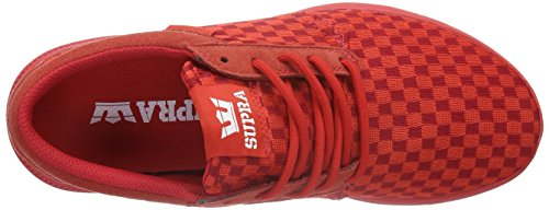 Supra Hammer Run, Baskets Basses Mixte Adulte Rouge (RED - RED RED)