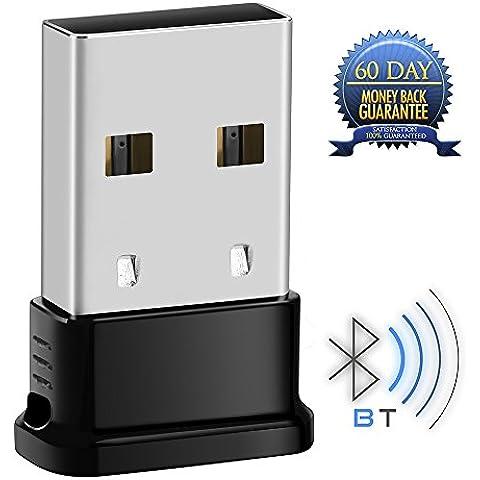 Whitelabel - USB Bluetooth V4.0 Adaptador para PC con BlueSoliel IVT - Para Windows 10 / 8.1 / 8 / 7 / Vista / XP con 32 bits y 64 bits