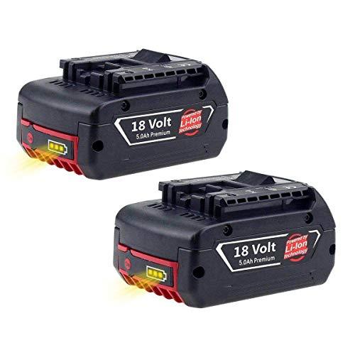 2X Reoben Remplacement pour Bosch 18V 5.0Ah Li-ion Batterie...