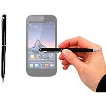 Stylet + stylo bille noir classique 2 en 1 haute précision pour écran tactile de Smartphone Wiko Darkfull, Darknight et Darkmoon