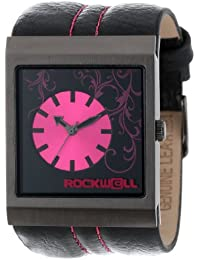Rockwell Time Unisex MC107 Mercedes Black Leather and Pink Reloj