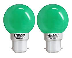 Eveready 0.5-Watt 1 UP Deco LED Bulb (Green and Pack of 2)