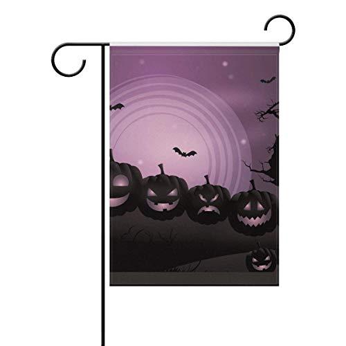(Dozili-Flagge, Halloween-Kürbis-Set mit verschiedenen Ausdrücken, Dekoration für Zuhause, Gartenflagge, wetterfest und doppelseitig, Polyester, bunt, 28