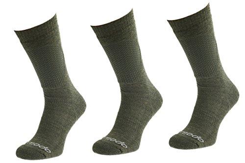 Comodo® 3X HUN1 Calcetines DE Caza | Guardabosques Calcetines | Forestal | Calzetines Cazador | Calcetines Pescadores, Mondo-Calza Farbe:Khaki Mondo-Calza Größen:43-46
