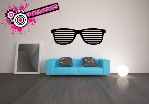 Vinylworld Paar große Sonnenbrille, vinyl, Schwarz
