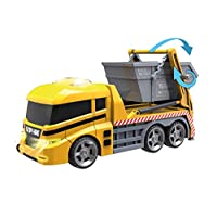 Teamsterz Large Light & Sound Skip Lorry   Kids Civilian Toy Vehicle Waste Recycling Lorry Great For Children Aged 3+
