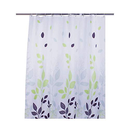 KnSam Duschvorhang Blätter Badewannevorhang Wasserdicht Anti-Schimmel inkl. 12 -