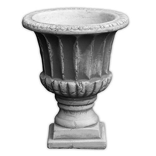 gartendekoparadies.de Massive Stein Vase rustikal Pflanzgefäß aus Steinguss frostfest