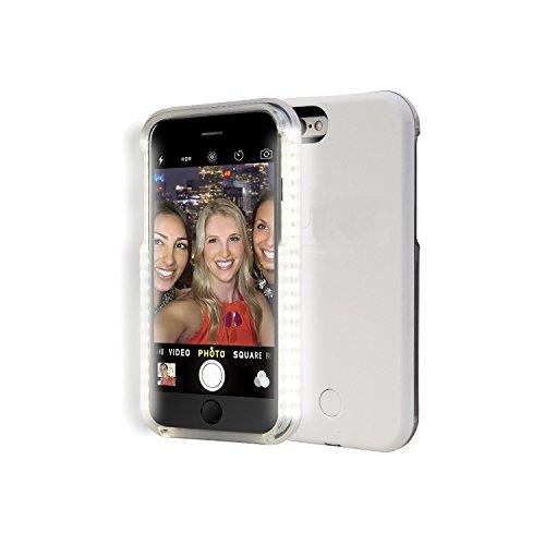 SAMRICK Gute Beleuchtung integrierte LED Selfie Cover Hülle für Apple iPhone 7Plus–black-parent, weiß, Apple Iphone 7 Plus weiß