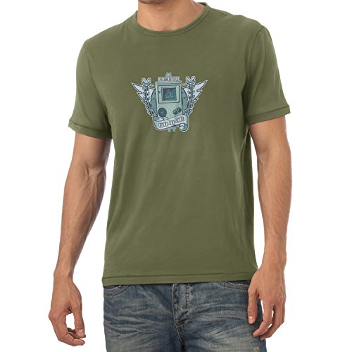 Logo - Herren T-Shirt, Größe M, oliv (Space Invaders-kostüm)