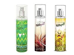 Layerr Wottagirl Fresh Citrus Fragrant Body Splash + Wottagirl Vanilla Twist Fragrant Body Splash + Wottagirl Secret Crush Fragrant Body Splash (pack of 3)