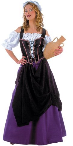 S - Damenkostüm Wirtin 4-teilig (Hemd-Mieder-Rock-Hut) (Damen Sport Kostüme)