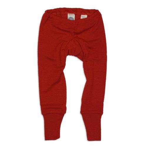 (Cosilana Baby Leggings, Größe 74/80, Farbe Rot, 70% Wolle und 30% Seide kbT)