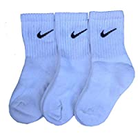 Nike Youth White Socks Band Socks UK9-11.5 / EU 27-30 Kids Sizes x 3 Pairs